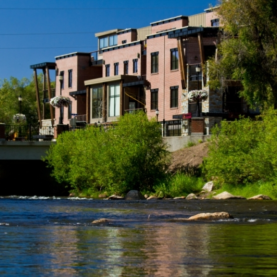 Downtown Living - <br>The Olympian #404 offers 2 master suites,  Ski Area views, across from the Yampa River.<br />