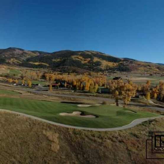 18th Green at Catamount - Catamount Ranch building site lot with South Valley & Flattop views, Walton Creek frontage <br />