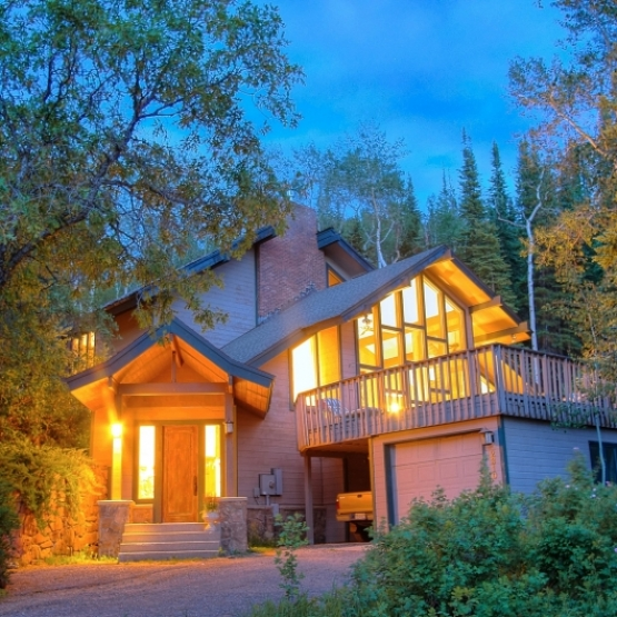Privacy and Creek - Private ski area home backing to national forest with stream.<br />