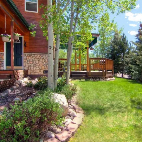 Incredible Outdoor Living - Mountain area townhome which is situated on a large, corner lot surrounded by mature trees and beautiful landscaping. <br />