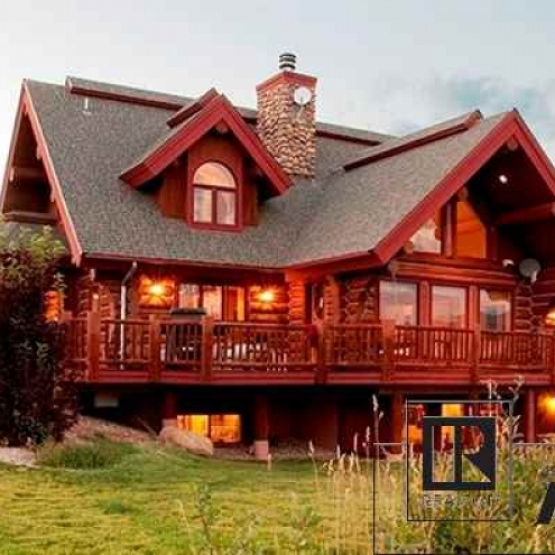 Architecturally Stunning  - Log home in Sleeping Giant Estates with views of Mt. Werner Ski area, Flattops and Elk River valley with abundant gathering places <br />