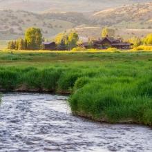 Lodge from Elk Creek -