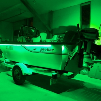 80k lumens of led lighting on the new Pro-Line tournament sport fishing boat.
